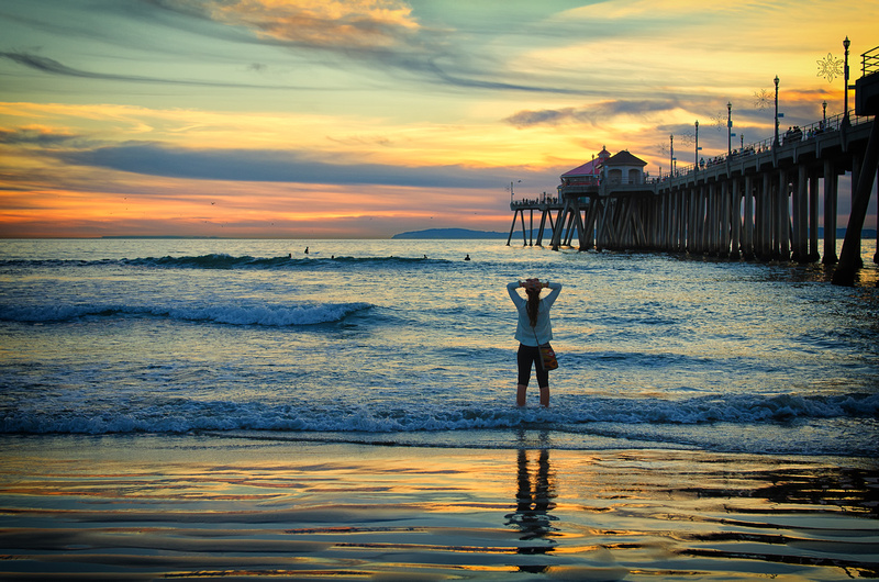 Sunset at Huntington Beach Pier